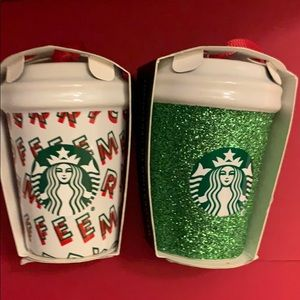 Starbucks 2019 Christmas Ornament Set of 2 Tumbler